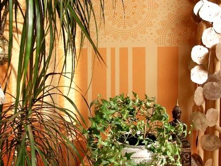 szablon malarski, tapeta, tapetowy, szablony malarskie, wzory, wzorki, relacja, foto, zdjęcia